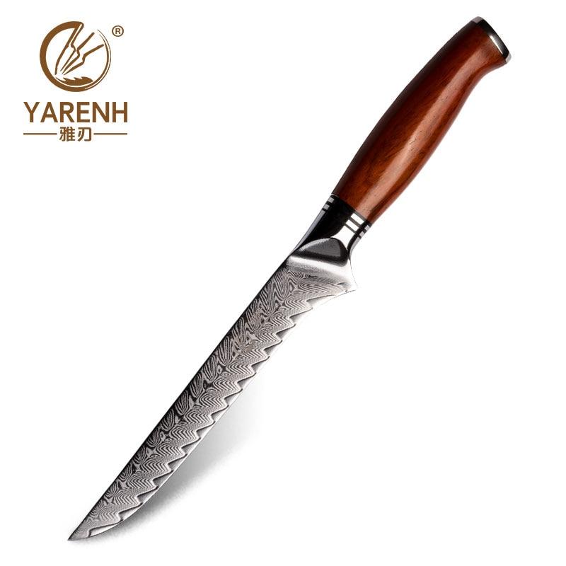 يارينه 6 بوصة سكين نزع العظم الترا شارب برو سكاكين المطبخ 73 طبقات اليابانية دمشق الفولاذ المقاوم للصدأ مع مقبض الخشب Dalbergia