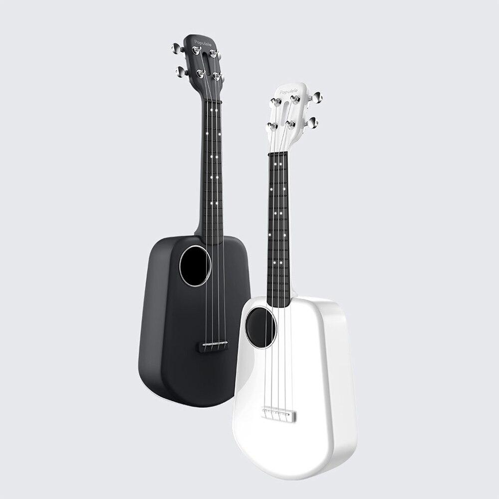 Populele 2 ukulele usb inteligente ukulele app controle bt 4.0 led contas de lâmpada pequena guitarra