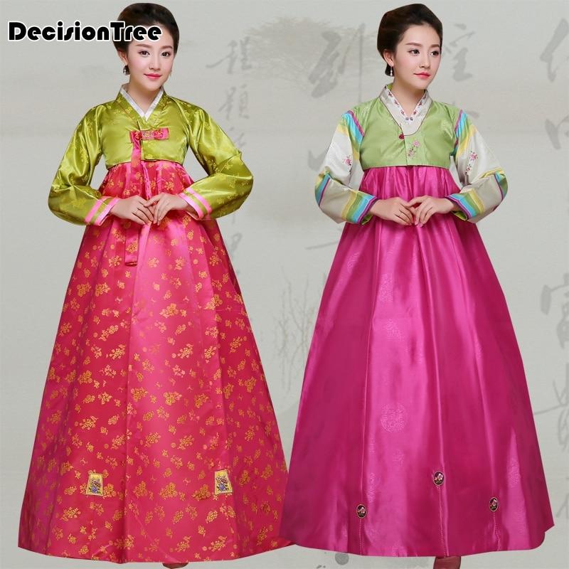 Vestido hanbok coreano bordado 2020, ropa de boda tradicional para mujer, traje de baile de actuación étnica, atuendo femenino