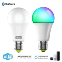 Ampoule LED intelligente wi-fi  800 Lumens  bricolage  lumiere E27  10W  220V  RGB  variable  couleur  fonctionne avec Alexa Google Home