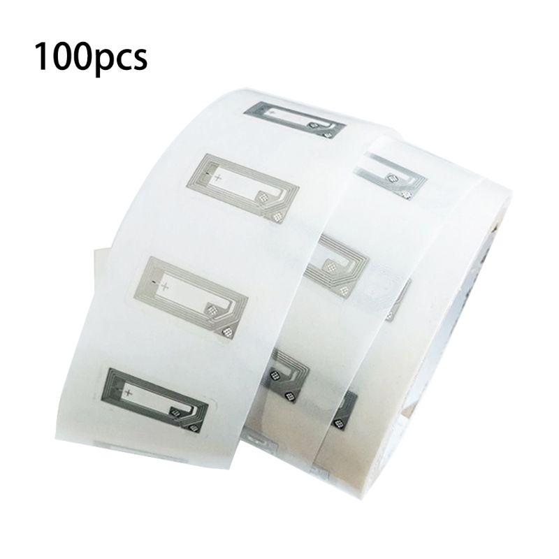 100 pièces NFC puce Ntag213 autocollant incrustation humide 2*10mm 13.56MHz RFID NTAG 213 étiquette