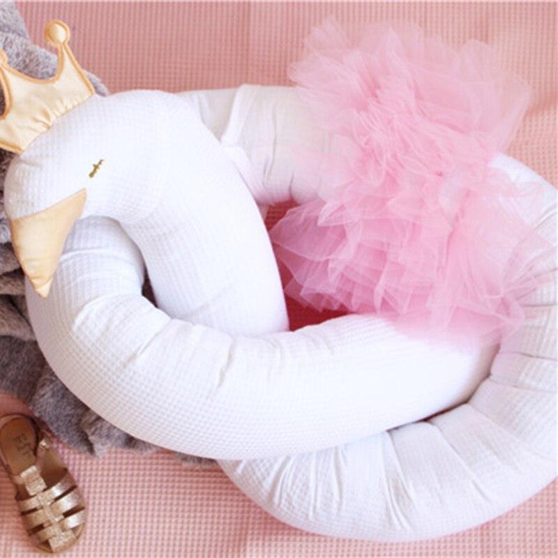 Ins dos tonos diseño dorado corona Cisne cama de encaje rodeado de corona de plata elefante cama de encaje 190*12 tela transpirable de malla de algodón cm