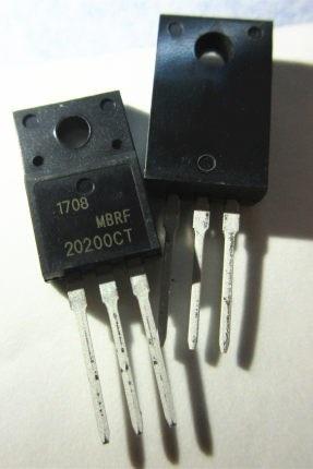 10 unids/lote MBRF20200CTG MBRF20200CT MBRF20200 20200CTG B20200G 20A/200V TO-220F