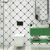 kitchen oil proof wallpaper cupboard stove high temperature wall sticker bathroom tile waterproof mosaic self adhesive wallpaper