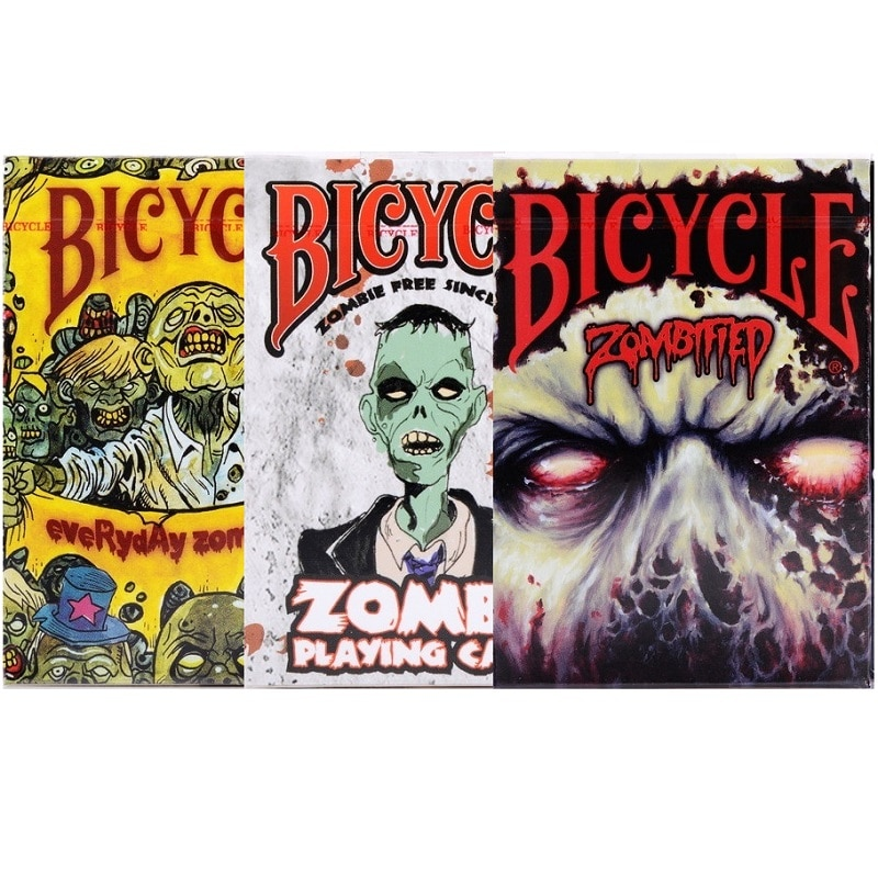 1 колода велосипед зомби игральные карты Хэллоуин призрак тема покер USPCC волшебные карты игры Волшебные трюки реквизит для волшебника