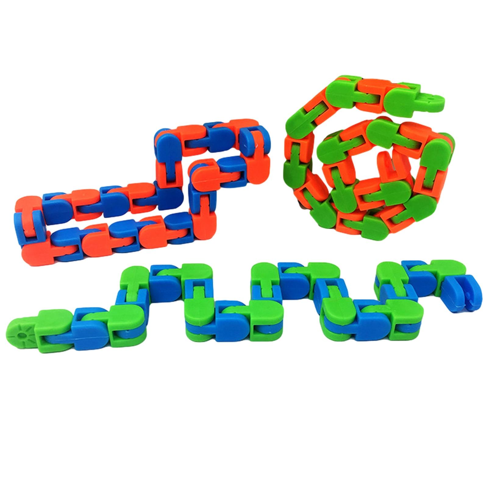 Children Funny Fidget Fiddle Sensory Toy Wacky Tracks Stress Relief Educatiaon Block valuable