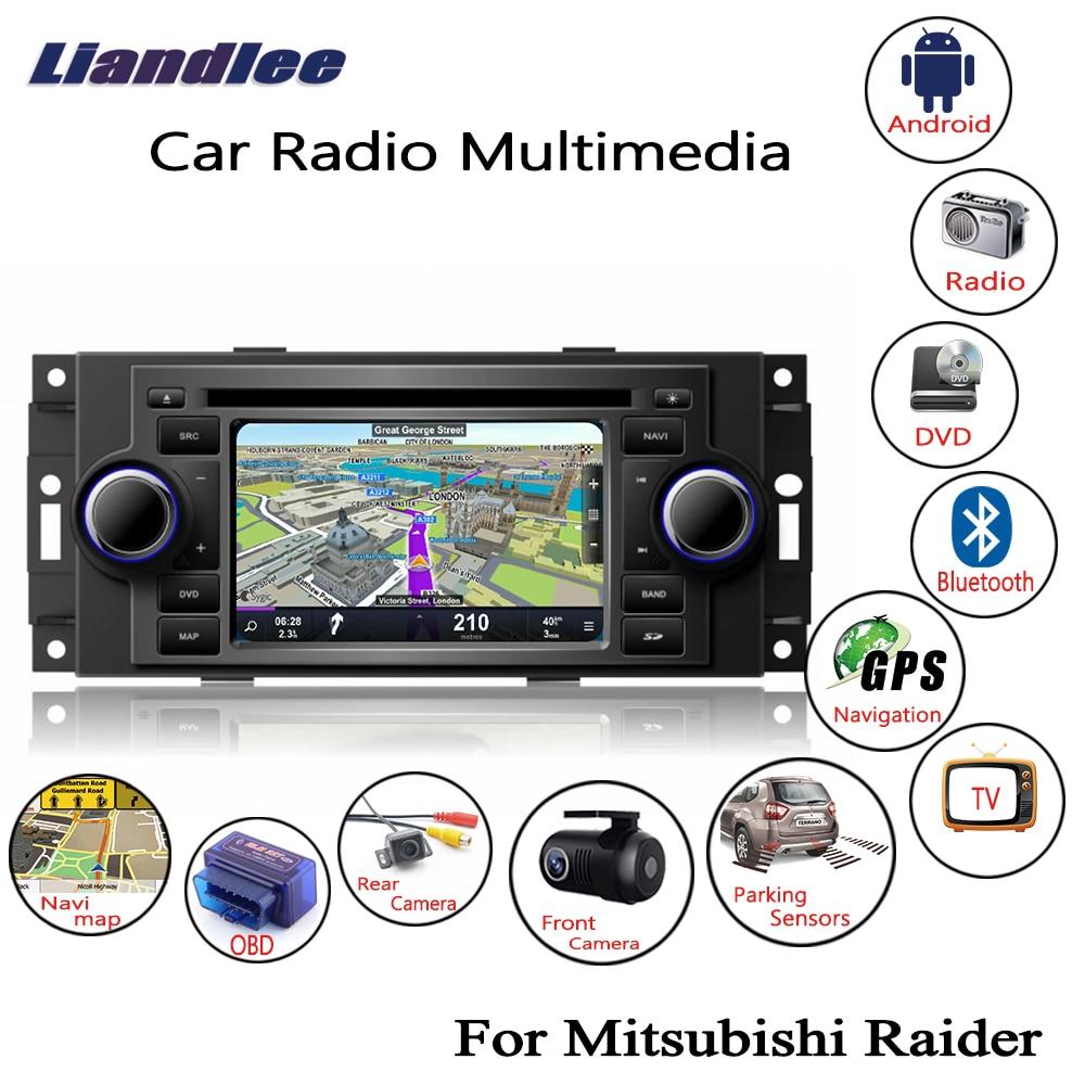 Liandlee-CD DVD pour Mitsubishi Raider   2005 ~ 2007, Android autoradio, lecteur GPS, Navi Navigation, cartes, caméra OBD TV écran BT