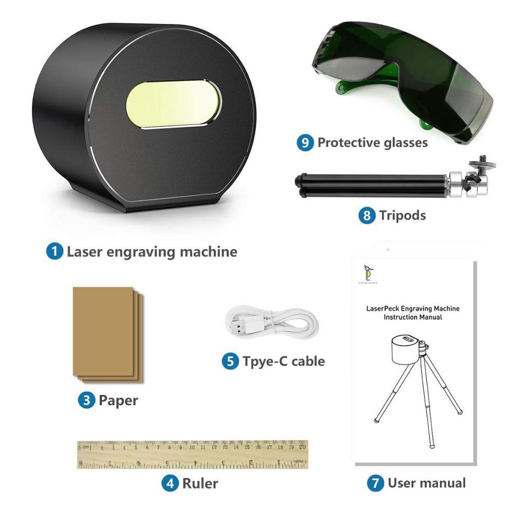 New Laser Engraver Bluetooth Connection 3D Printer Autofocus Portable Desktop Mini Laser Engraving Machine Etcher Cutter Engrave enlarge