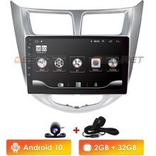 Ossuret Android 10 autoradio di Navigazione GPS per Hyundai Solaris Accent Verna Multimedia DVR SWC FM CAM-IN BT USB DAB DTV OBD PC