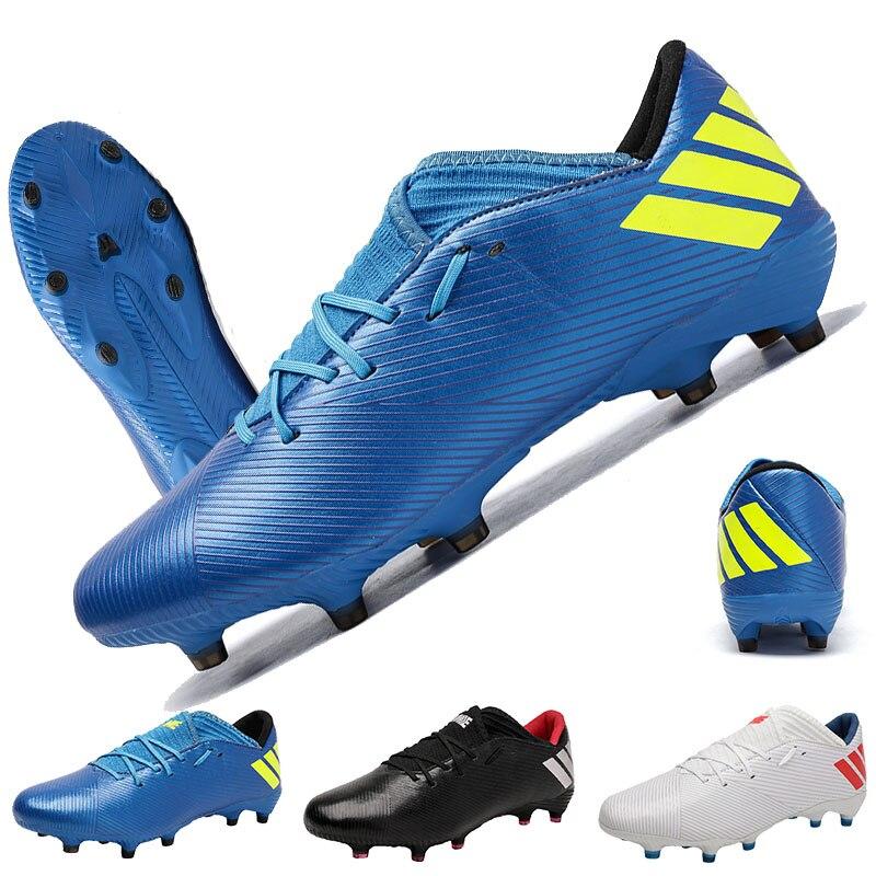 Новые высокие футбольные ботинки, мужские дышащие уличные высокие футбольные ботинки, женские и мужские мягкие футбольные ботинки