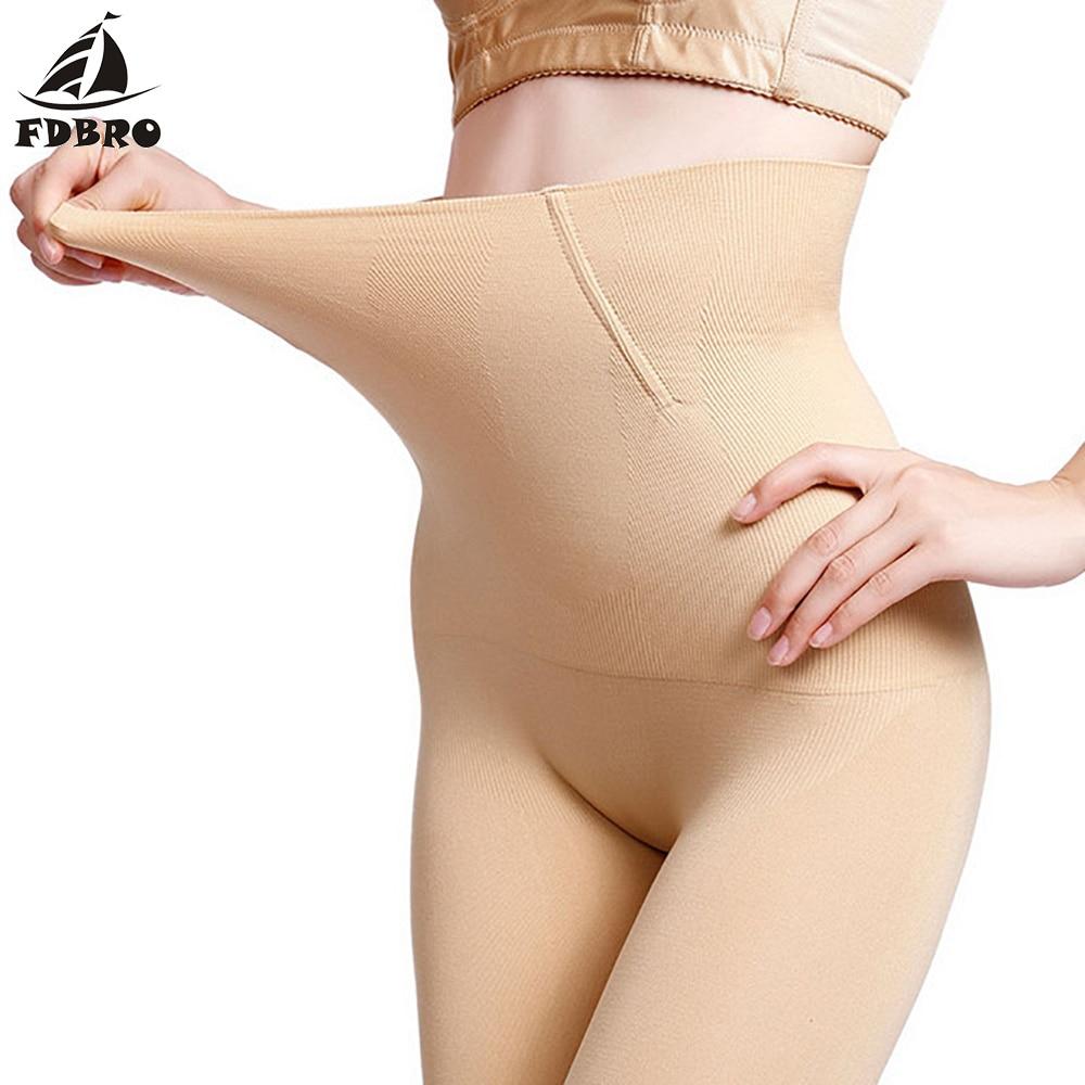 FDBRO Bodybuilding Trunks Seamless Women High Waist Slimming Tummy Control Knickers Pant Briefs Shapewear Body Shaper Corset