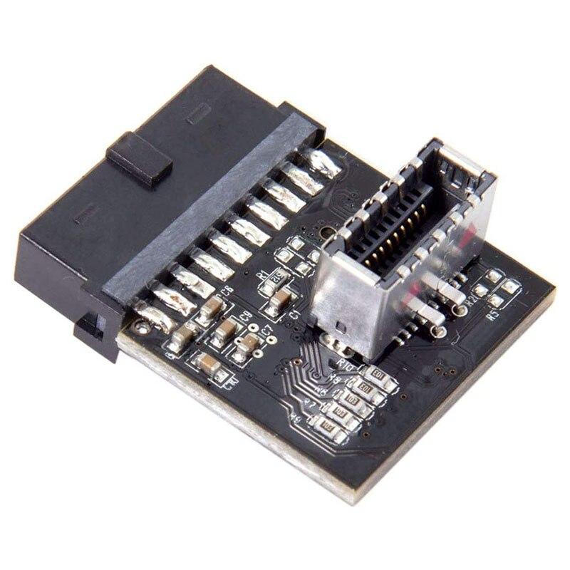 USB 3.1 اللوحة الأمامية الإناث إلى USB 3.0 20-Pin رأس ذكر تمديد محول ل بطاقة اللوحة الأم مع منفذ USB3.0