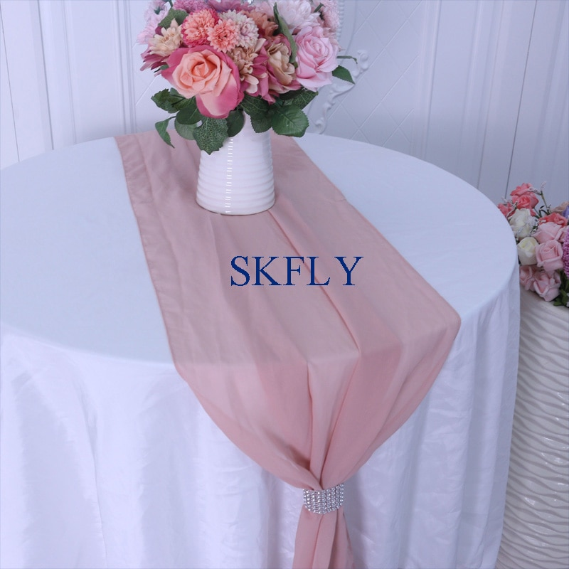 RU013X, gran oferta, boda, champán verde oscuro, azul real, púrpura, rosa, Borgoña, blanco, lila, camino de mesa de gasa