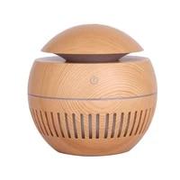 Purificateur daromatherapie de Grain en bois dhumidificateur dair dhuile essentielle de diffuseur darome dusb Mini avec le lumiere LED pour la chambre a coucher a la maison