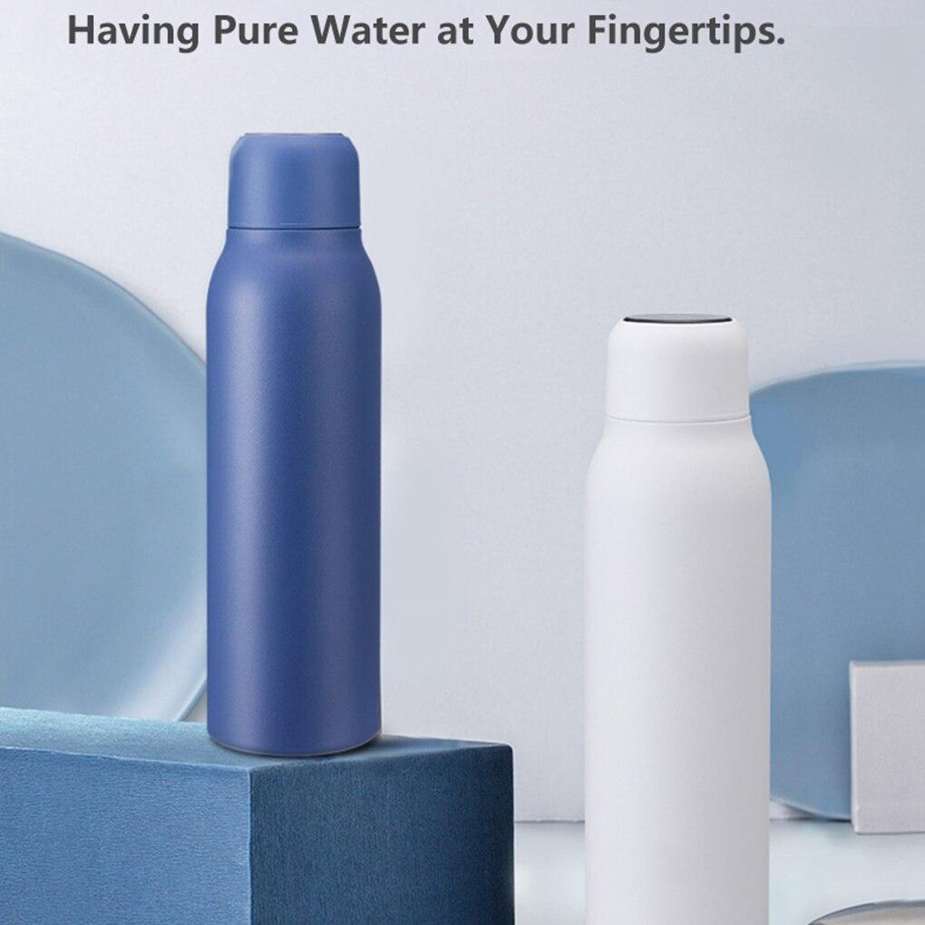 ذكي معقم بالأشعة فوق البنفسجية فراغ زجاجة ماء تُرمس التنظيف الذاتي منقي مياه 304 قنينة من الفولاذ المقاوم للصدأ للسفر التخييم التنزه