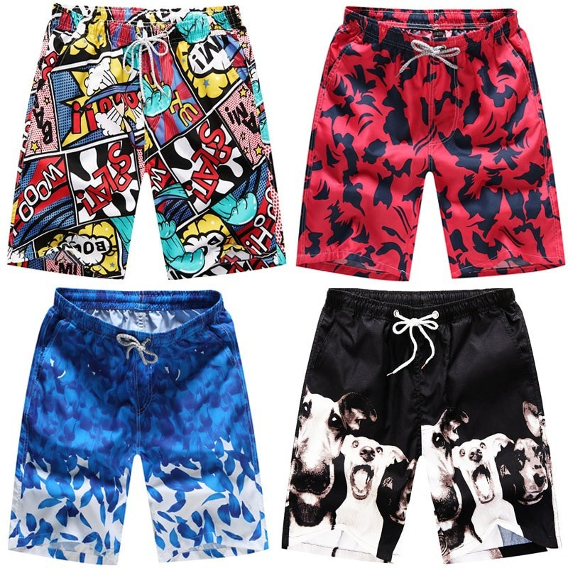 2020 Summer New Casual Shorts Men Printed Beach Shorts Mens Quick Dry Board Shorts For Men Beachwear Short Pants Men Clothing
