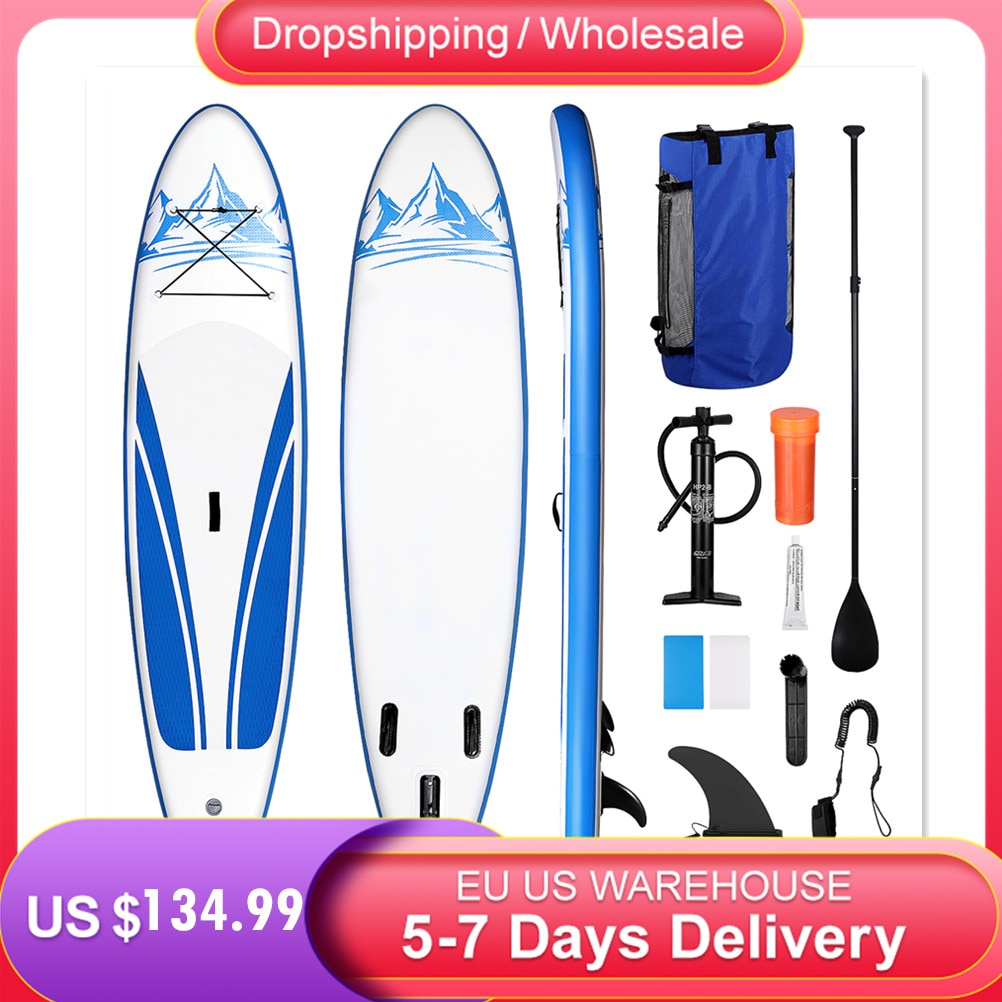 Non-slip Paddle Board Inflatable Stand Up Paddle Board Surfboard Surfing Board Sup Stand Up Ankle Leash & Waterproof Backpack