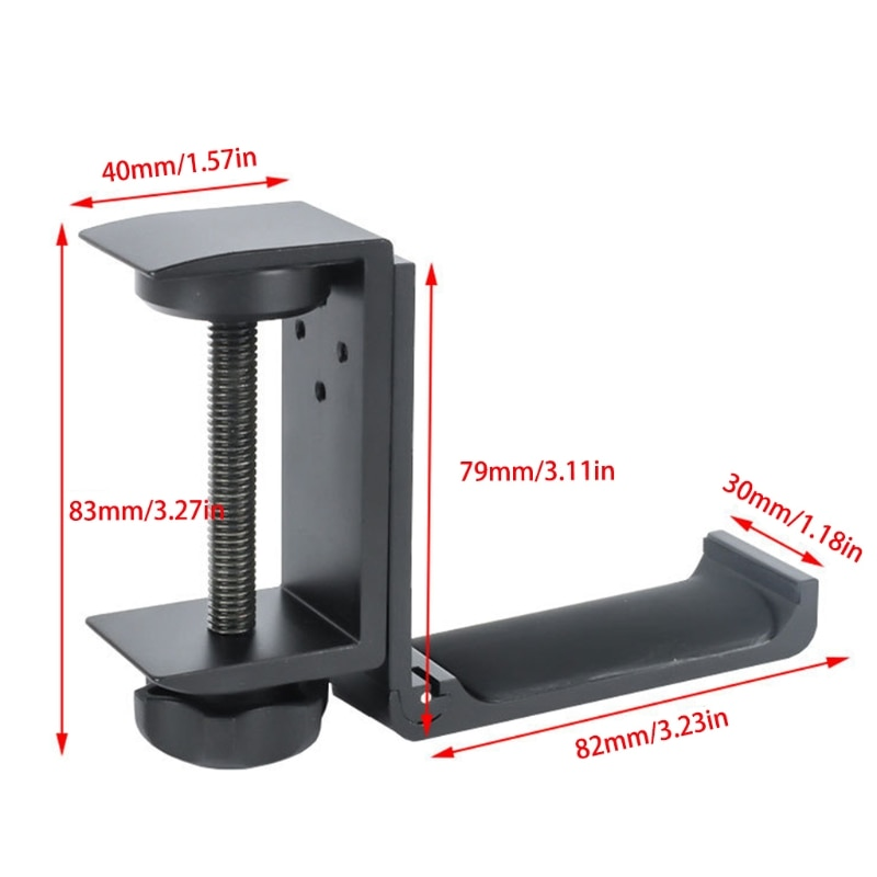 Universal Aluminum Alloy Headset Holder Adjustable Foldable Headphone Hanger High Quality