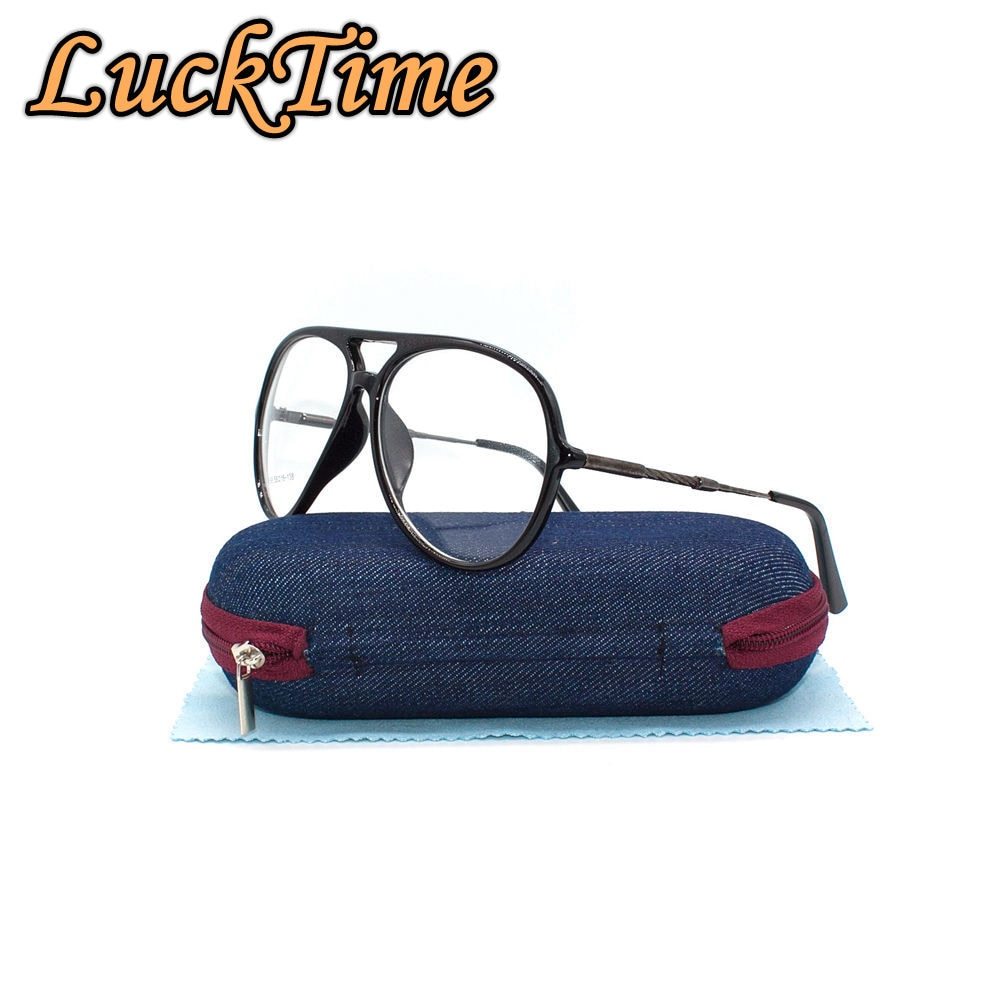 LuckTime moda hombres mujeres Marco de gafas unisex Retro redondo gafas para miopía con montura tiempo de la suerte monturas para gafas ópticas hombres #068