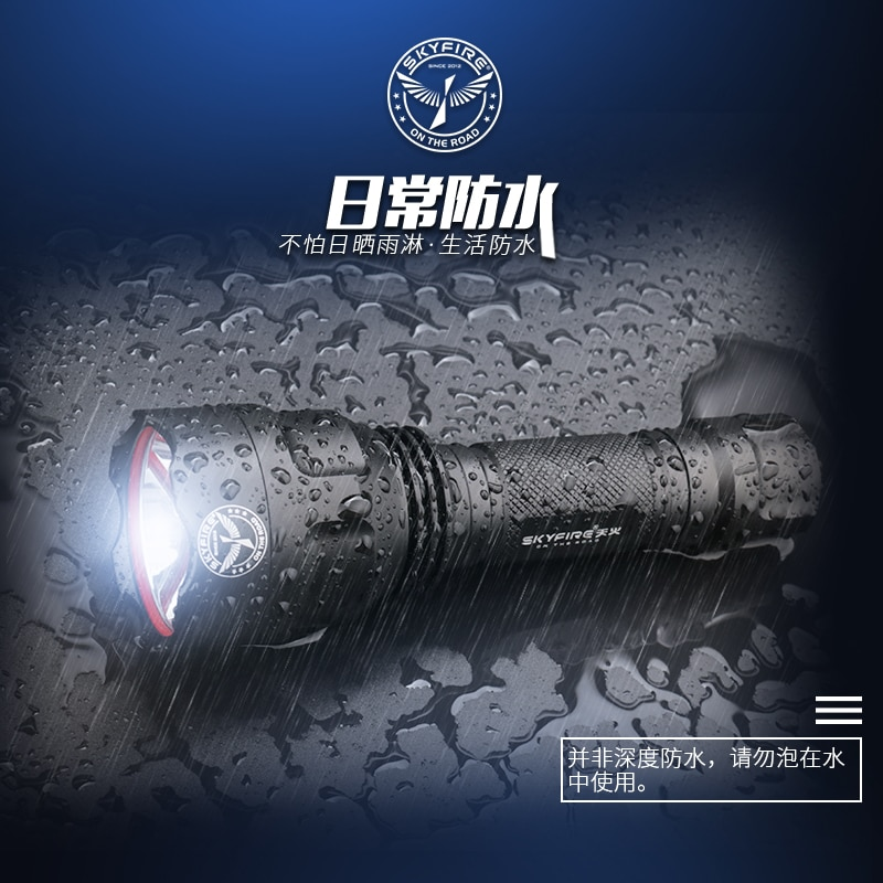 Outdoor Powerfu Flashlight Waterproof Multifunction Military Camping Rechargeable Flashlight Linterna Led Lighting Torches DB60S enlarge