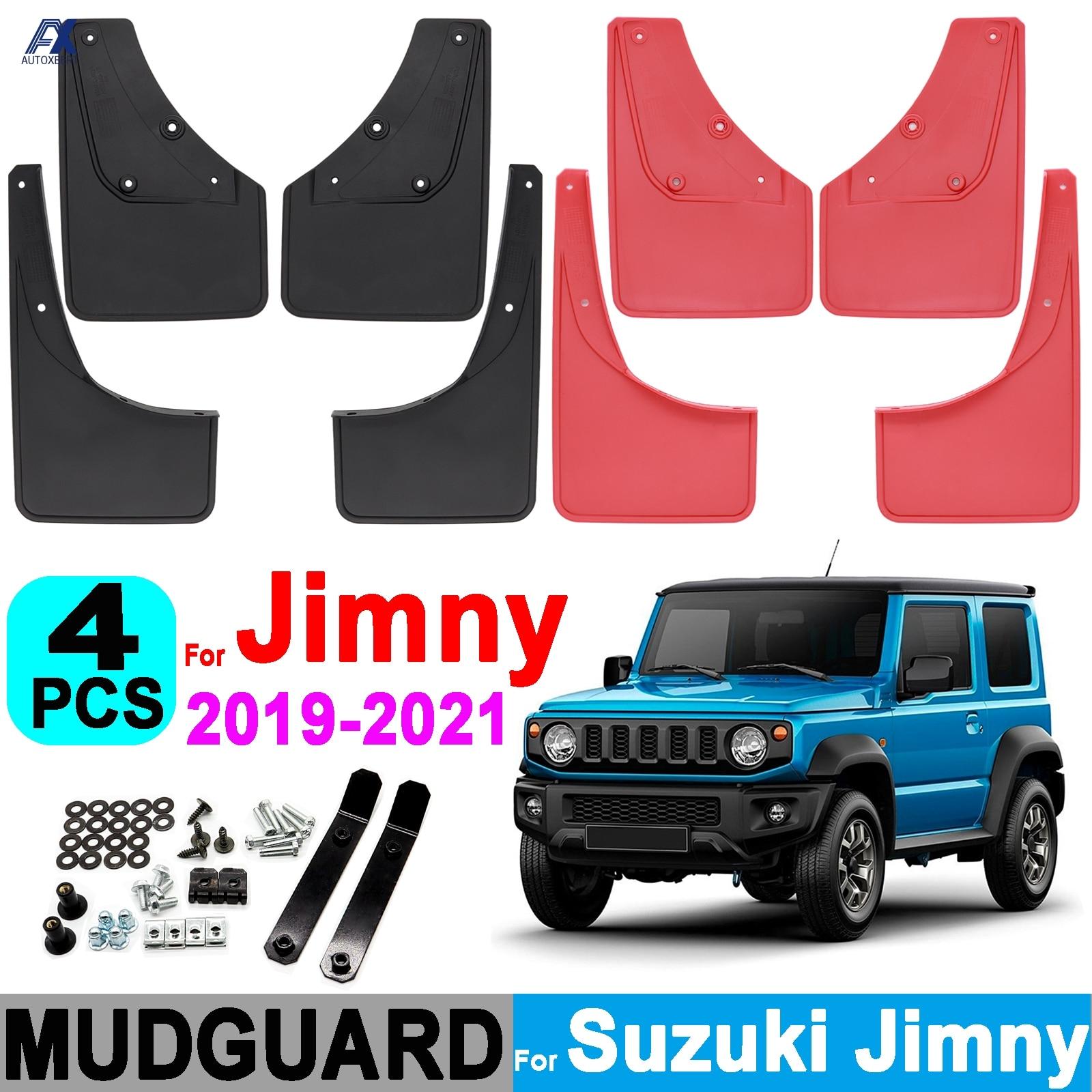 4X واقيات الطين للسيارات واقيات الطين لسوزوكي جيمي سييرا JB64 JB74 2019 2020 2021 واقيات الطين واقيات الطين تصميم السيارة الأمامي والخلفي