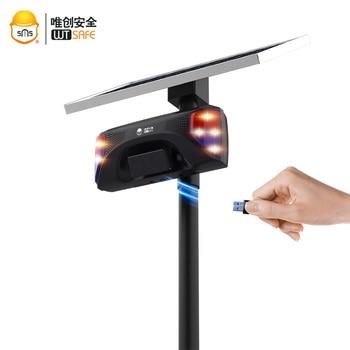 mp3 alarm Solar Sound Alert Solar Powered Sound Alarm Light Motion Sensor Siren Strobe  Security Light LED