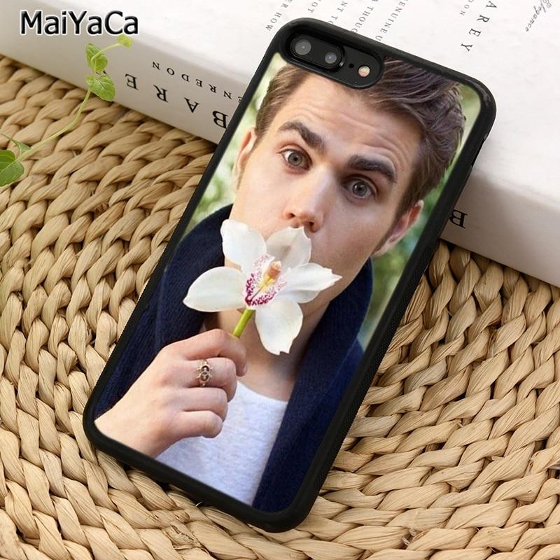 MaiYaCa vampiro diarios Paul Wesley funda de teléfono para iPhone 5 S 6 S 7 8 plus 11 Pro X XR XS Max Samsung Galaxy S6 S7 S8 S9 S10 plus