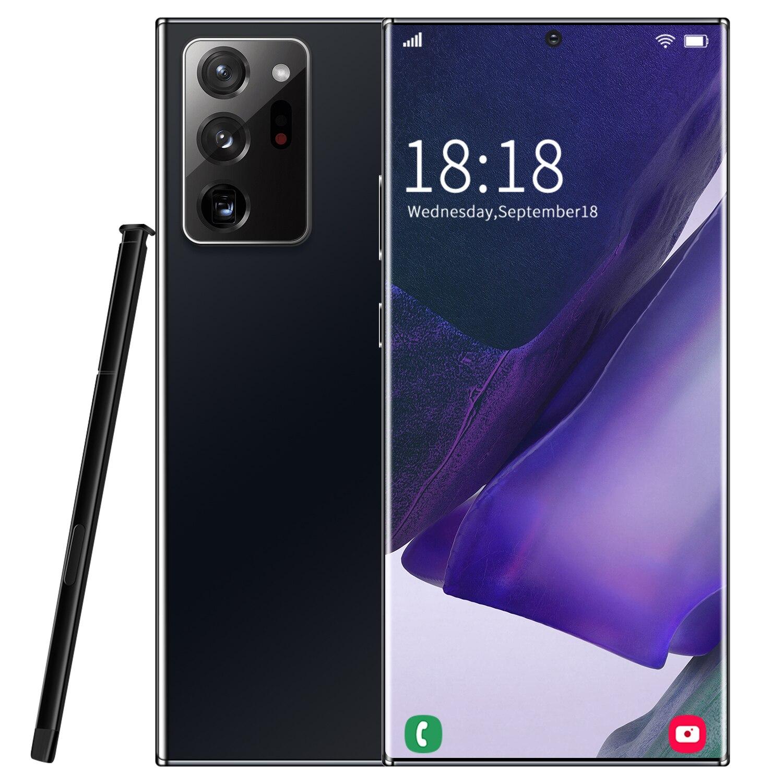 نوت 20u + 6.9 بوصة Mtk6889 برو Mxs الوجه بصمة معرف 5000mah 18 + 48 ميجابكسل الهاتف المحمول شاشة كاملة 16 + 512gb هاتف محمول ذكي