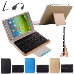 Caso de teclado sem fio bluetooth para 3q qoo! Surf oc1020a 10.1 polegada tablet teclado idioma layout personalizar stylus + otg cabo
