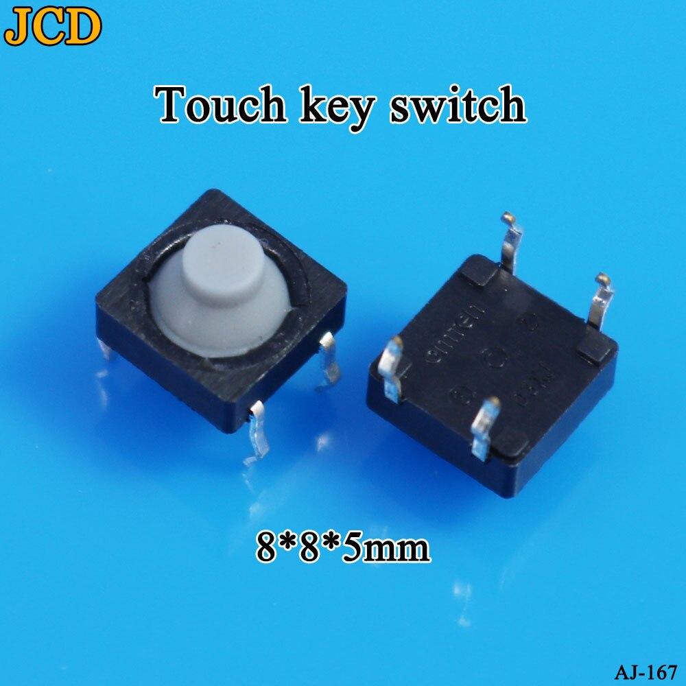 JCD 20 unids/lote 8x8x5MM 4PIN G77 silicona conductora sin sonido tactil botón pulsador Micro interruptor auto-reinicio