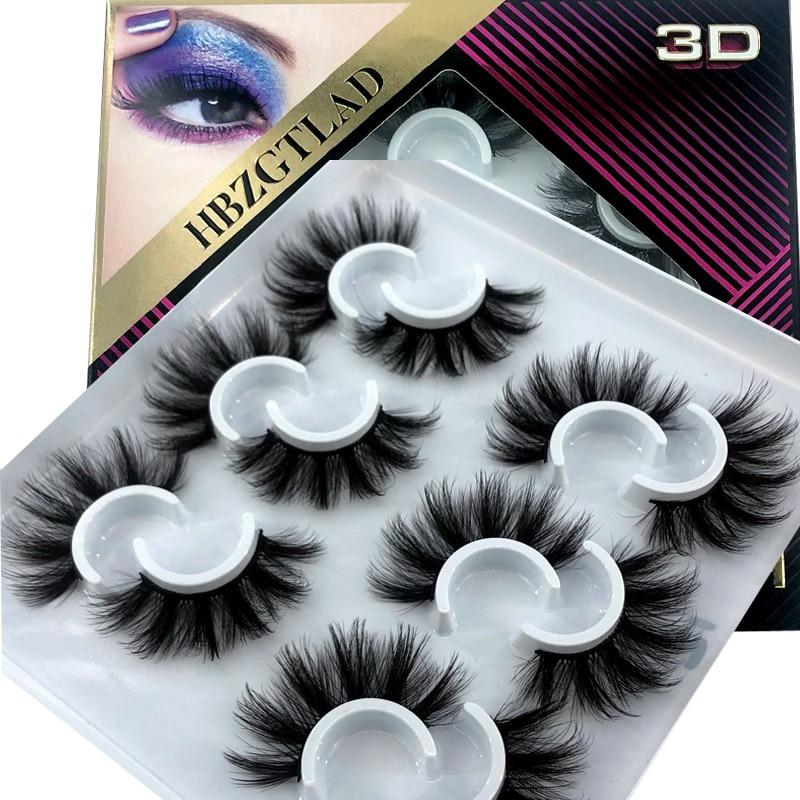 New  2/6/7 pairs natural false eyelashes fake lashes long makeup 3d mink lashes eyelash extension mink eyelashes for beauty