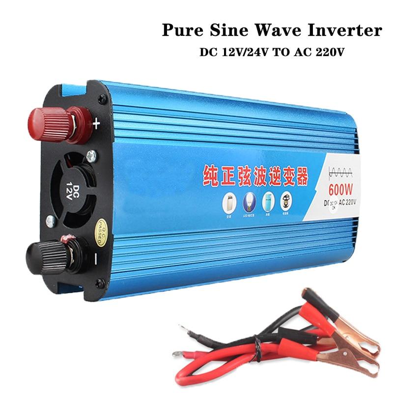 Inversor de onda sinusoidal pura 24v DC 12v a la CA 220v 50HZ potencia de 600W dc convertidor paso inversor tsm transforme de España