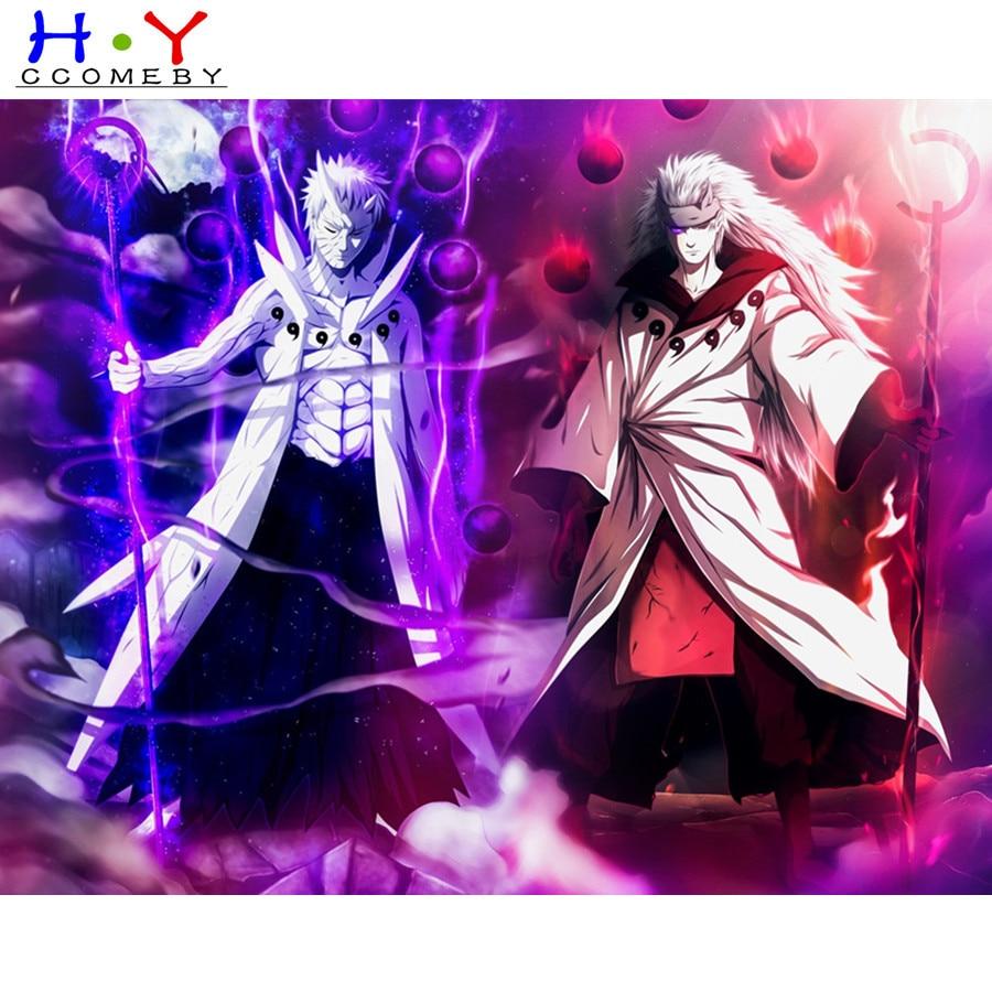 5D bricolage diamant peinture dessin animé Anime Sasuke Naruto diamant broderie strass point de croix peinture diamant décor à la maison