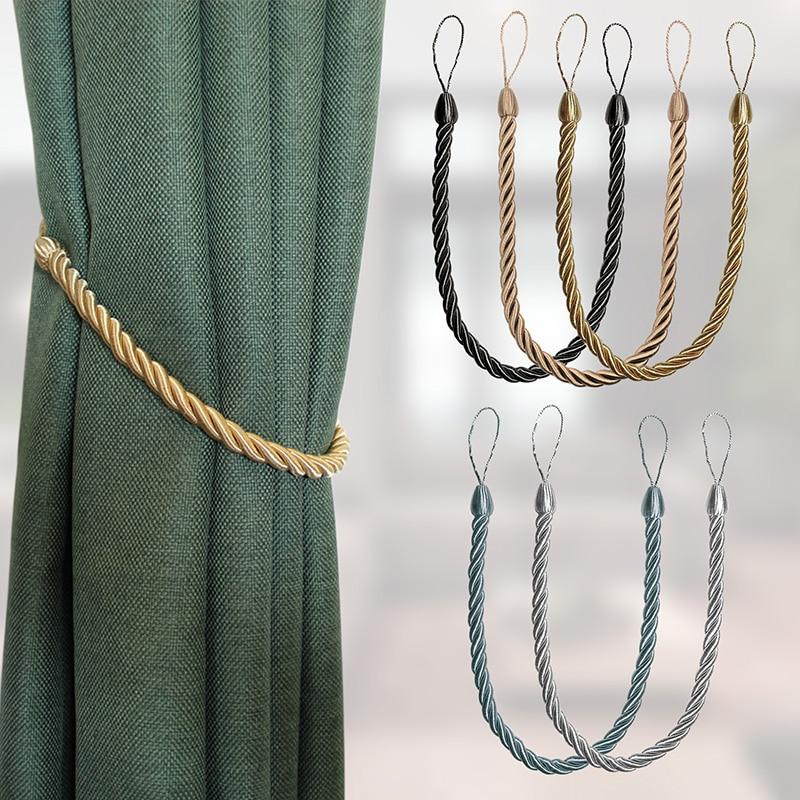 2 uds cortina dorada Tieback ventana Drapery Tie Holdbacks cortina titular Cilp hebilla accesorios de habitación decoración del hogar