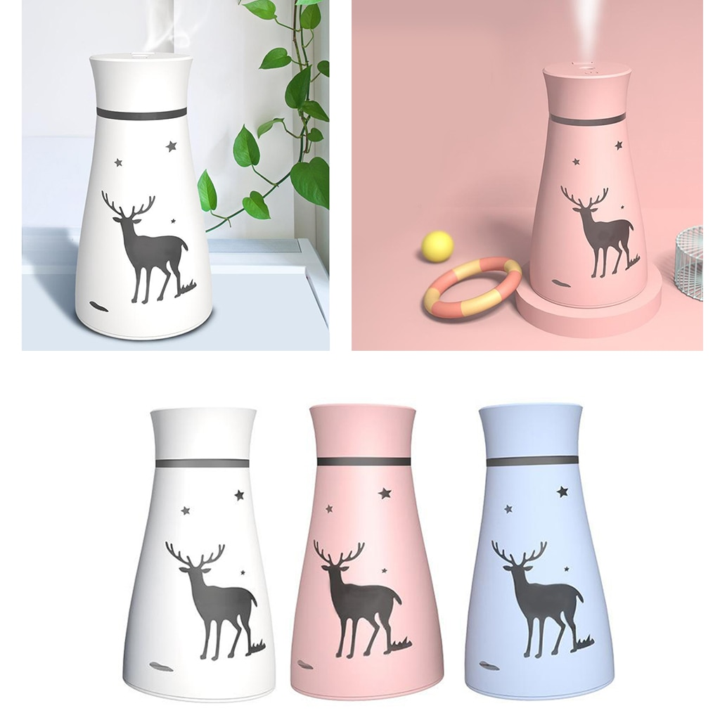 200MLAir Humidifier White USB Aroma Diffuser With Romantic Lamp Ultrasonic Humidifiers Diffusers