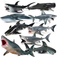Sea Life Hammerhead Shark Family Action Figures Ocean Marine Animals Savage Big Shark Model PVC Educational Kids Toy Gift