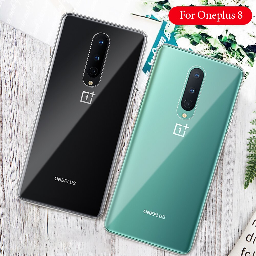 transparent Soft TPU Phone Case For Oneplus 8 1+8 Pro 7T 7 6 6T 5T 5 clear Protective Cover For Oneplus 1+7T 7 8 Pro Back Cover