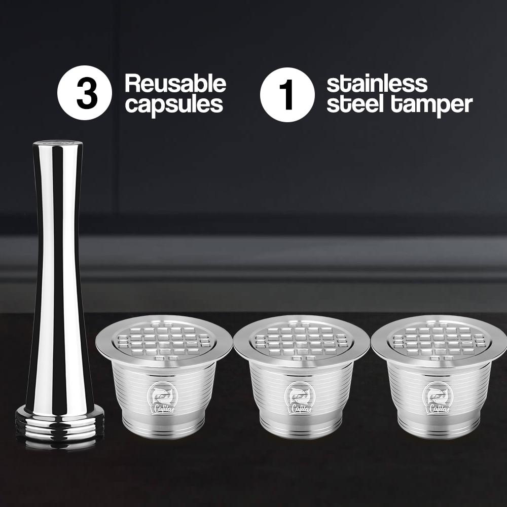 Нержавеющая Сталь Nespresso капсула многоразового использования квадратное отверстие новая версия тампер многоразовые кофе Filt Pod день рождени...