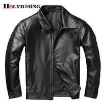 100 genuine leather male cow leather soft motorcycle jacket men turn collar coats man 6xl vintage black clothing cowhide 19434