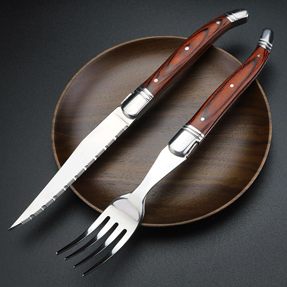 Fomalhaut-أدوات مائدة غربية من الفولاذ المقاوم للصدأ ، أدوات مائدة منزلية على الطراز الاسكندنافي القديم ، مع سكين وشوكة