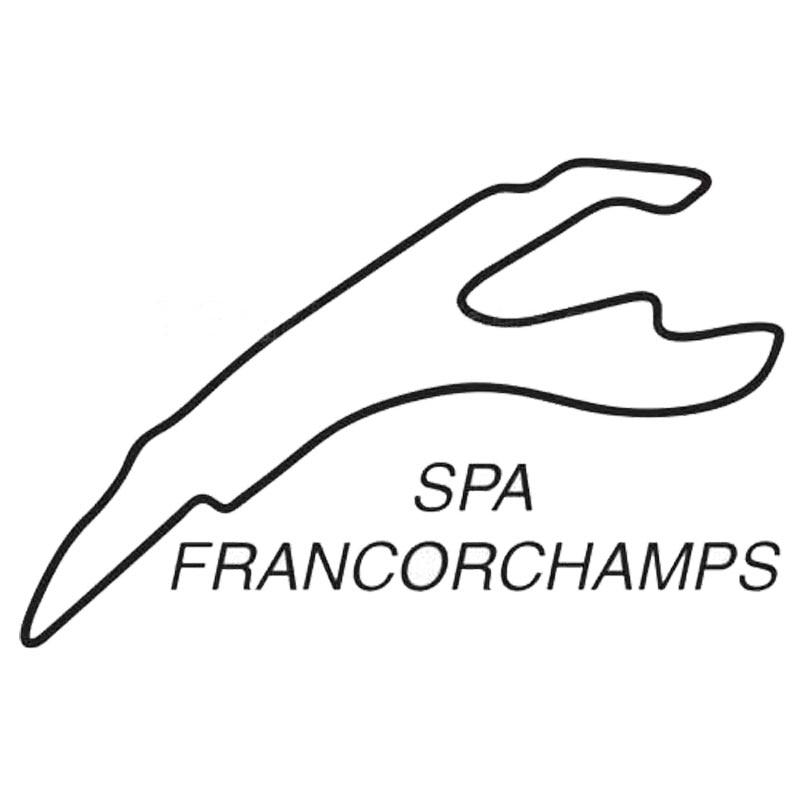 Автомобильная наклейка SPA FRANCORCHAMPS, модная индивидуальная модельная наклейка для гоночных автомобилей, украшение для окна бампера из ПВХ, во...