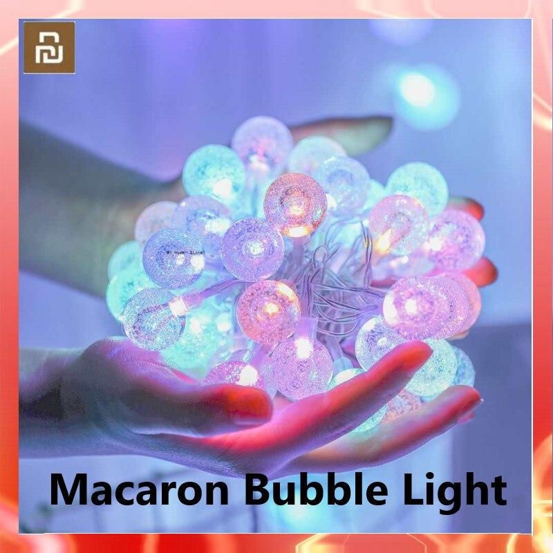 شاومي معكرون فقاعة ضوء سلسلة سيمفونية 16 ألوان الذكية التحكم عن بعد 8 طرق الموقت التبديل USB المنزل الذكي