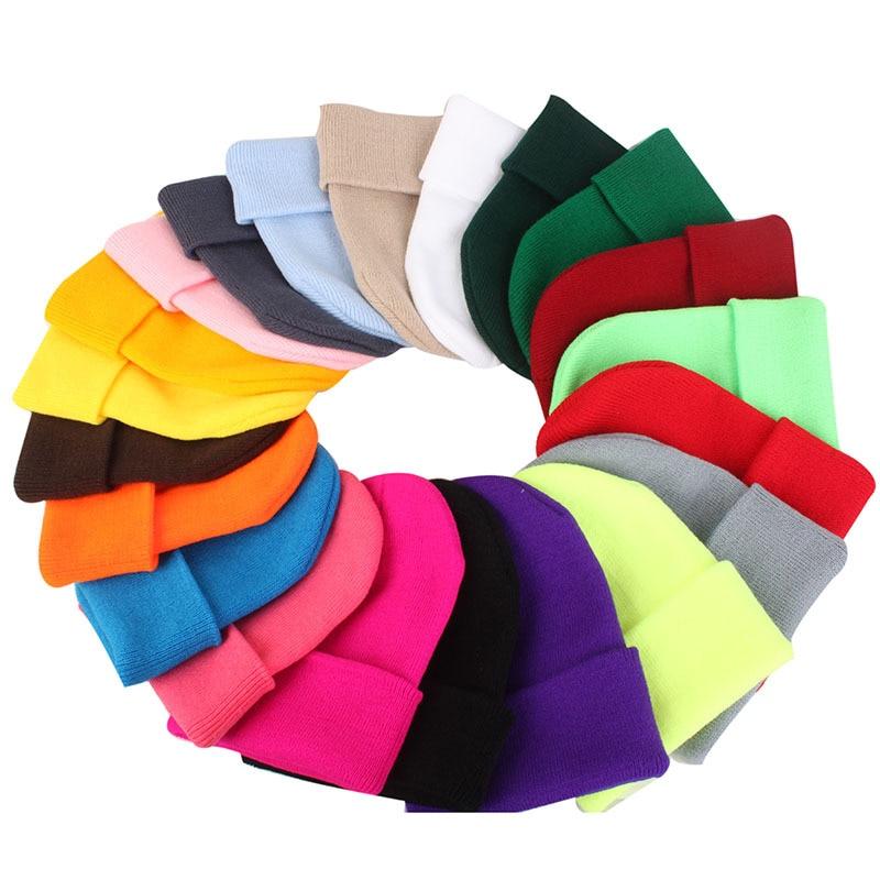 Шапки карамельных цветов вязаная шапка унисекс шапка осень зима мягкая теплая мужская женская шапка с черепом шапки облегающие шапки