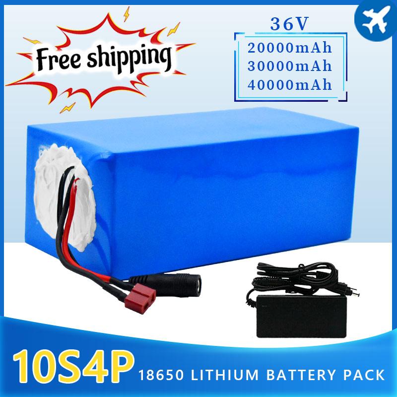 علامة تجارية جديدة 2021 36 فولت 10s4p 40Ah 1000 واط سعة كبيرة 18650 بطارية ليثيوم حزمة دراجة كهربائية سكوتر مع BMS Tplug + شاحن