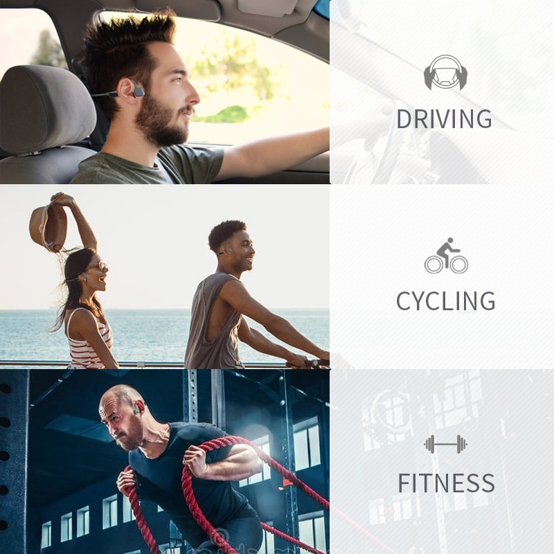 5.0 Bluetooth Earphone Outdoor Riding Headset Sports Waterproof Titanium Alloy Wireless Hanging Ear TypeHeadset For All Phones enlarge