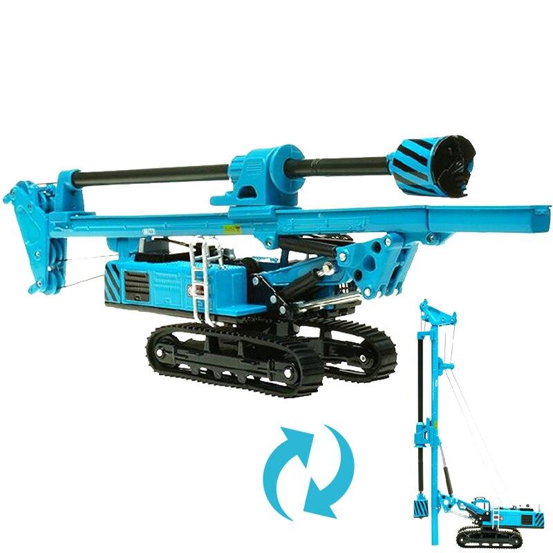 KDW-plataforma de perforación rotativa de aleación, excavadora sobre orugas, vehículo de construcción en miniatura, Colección para niños, modelo de decoración, Juguetes