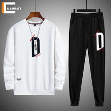 2021 frühling Herbst Trainingsanzüge männer Casual Sportswear Sets Neue Brief Druck Sweatshirt Hoodies + Jogginghose Jogging Anzug