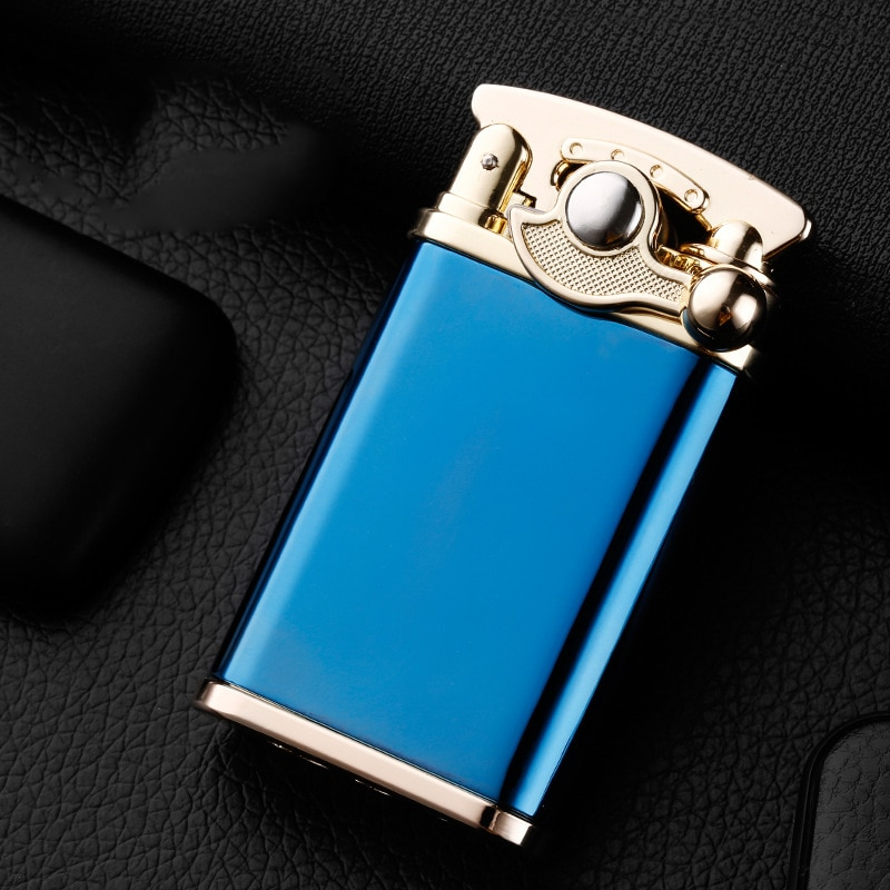Gas Lighter Retro Jet Torch Turbo Lighter Flint Buy Metal Lighters Mini Cigarette Smoking Accessories Lighters Gadgets for Men enlarge