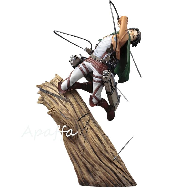 25cm Anime Figure Attack on Titan Levi/Rivaille /Rival Ackerman 1/8 Scale PVC Action Figure Toys Battle Ver. Anime Model Toy