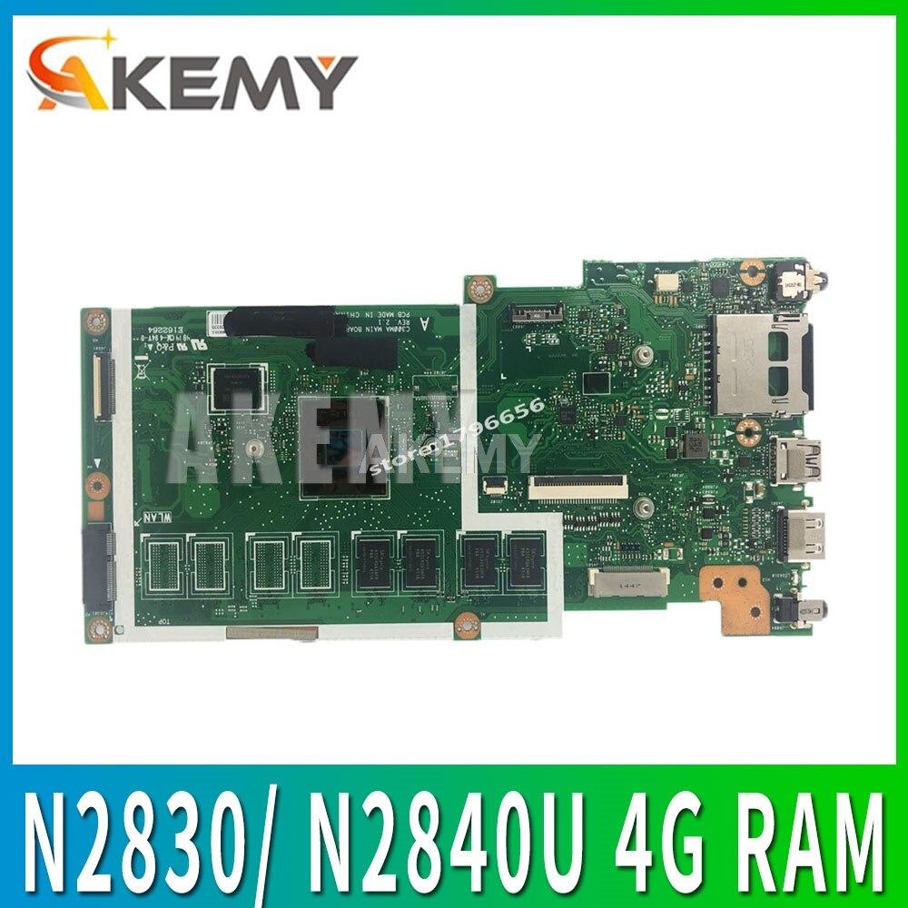 Placa madre C300MA para ASUS C300MA C300M placa base trabajo 100% prueba original EMMC16G N2830/N2840 CPU 4G RAM rev2.1